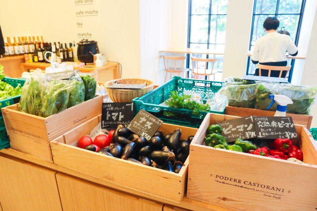 週末に販売している地元農家の野菜