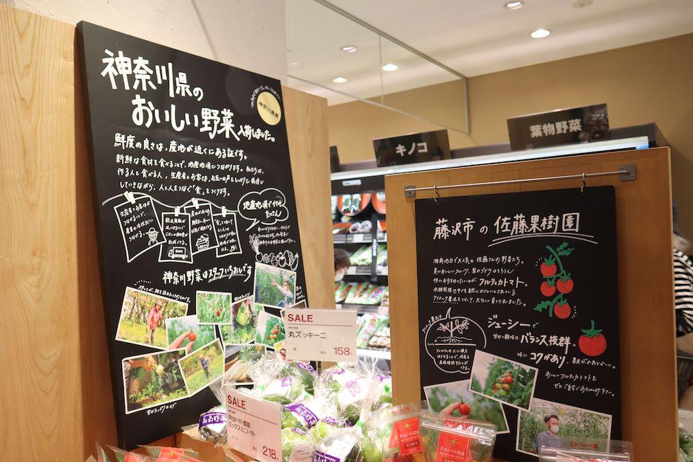 生鮮品売り場の様子